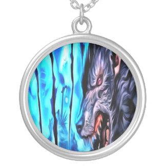 Beast av natthalsbandet silverpläterat halsband