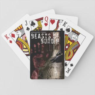 Beaster av Burdin som leker kort Casinokort