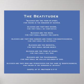 Beatitudes av den Jesus affischen Poster