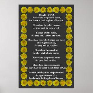 Beatitudes i en maskrosram poster