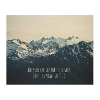 Beatitudes. Välsignat är det rent av heart. Trätavla