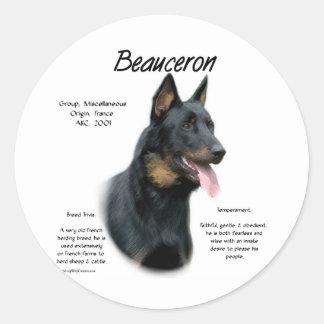 Beauceron historiedesign runt klistermärke