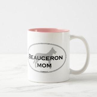 Beauceron mamma Två-Tonad mugg