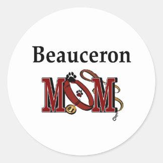 Beauceron mammaklistermärke runt klistermärke