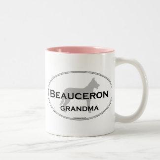 Beauceron mormor Två-Tonad mugg