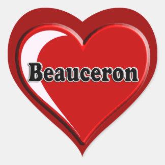 Beauceron på hjärta för hund älskare hjärtformat klistermärke
