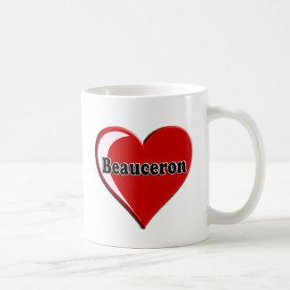 Beauceron på hjärta för hund älskare kaffemugg