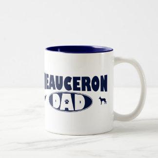 Beauceron pappa Två-Tonad mugg