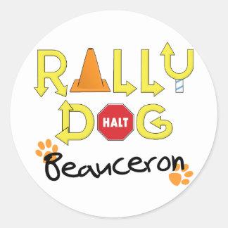 Beauceron samlar hunden runt klistermärke