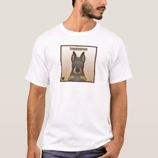 Beauceron tecknadhjärta t-shirt