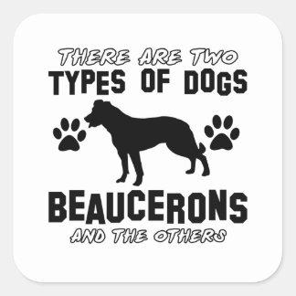 Beaucerons designer fyrkantigt klistermärke