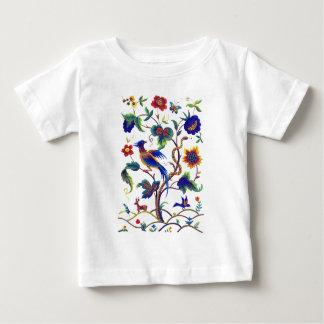 Beautful Jacobean fågel av paradisbroderi T-shirts
