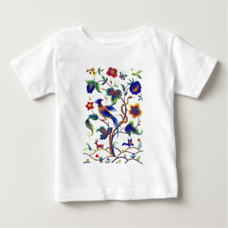 Beautful Jacobean fågel av paradisbroderi Tee Shirt