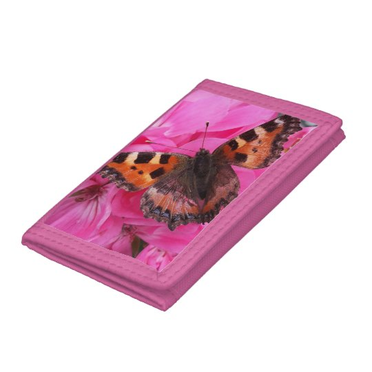 Beautiful butterfly pink wallet
