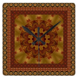 Beautifully inramad Mandala Fyrkantig Klocka