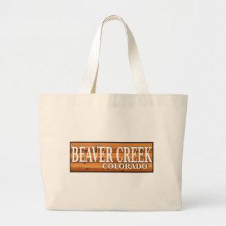 Beaver Creek träColorado loggar undertecknar toto Jumbo Tygkasse