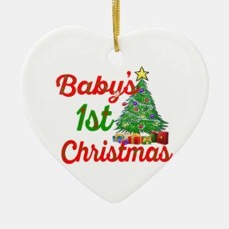 bebis första prydnad för hjärta för juldekoration
