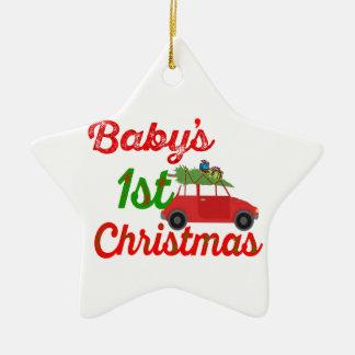 bebis första prydnad för stjärna för juldekoration