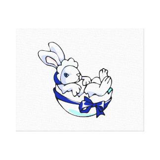 bebiskanin i äggblått ribbon.png canvastryck