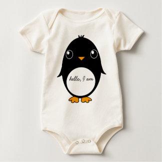 bebist-skjorta pingvin: hejer I-förmiddag Krypdräkt