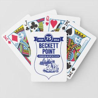 Beckett pekar fiskare kort för klubbcykel spelkort