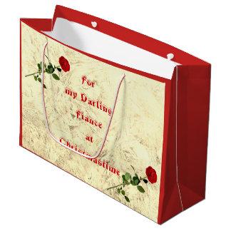 Bedårande Fiance för röd ros på juldesignen