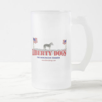 Bedlington Terrier Frostat Ölglas