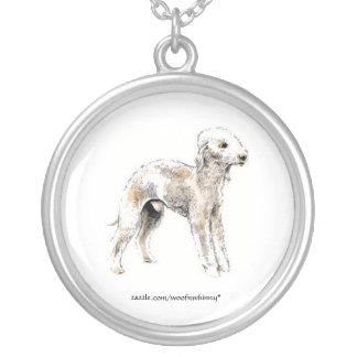 Bedlington Terrier Silverpläterat Halsband