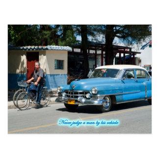 Bedöma aldrig en man med hans fordon! vykort