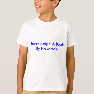 Bedöma inte en bok vid den är filmen tröja