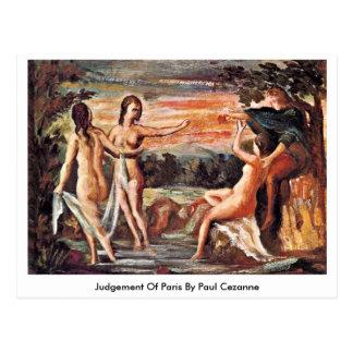 Bedömning av Paris av Paul Cezanne Vykort
