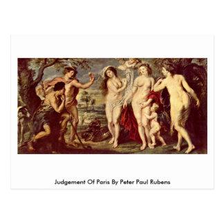 Bedömning av Paris av Peter Paul Rubens Vykort