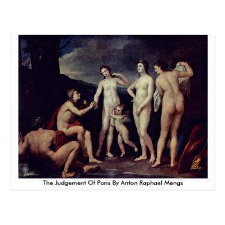 Bedömningen av Paris vid Anton Raphael Mengs Vykort