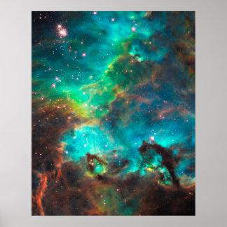 Bedöva Aquastjärnan samla i en klunga Poster