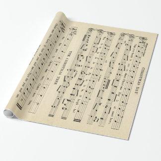 Bedöva det ovanliga lakan för vintagejulmusik presentpapper