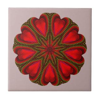 Bedöva rött julmotiv kakelplatta