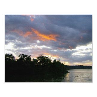 Bedöva soluppgången Along Ohio River 10,8 X 14 Cm Inbjudningskort