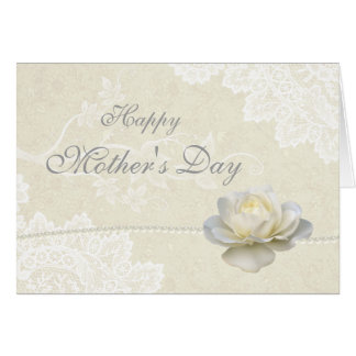 Bedöva vitsnörepärlor & rosa mors dag hälsningskort
