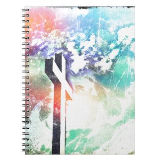 Bedrövad arg pastell för heliga anteckningsbok med spiral