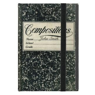 Bedrövad bok för vintage sammansättning iPad mini cover