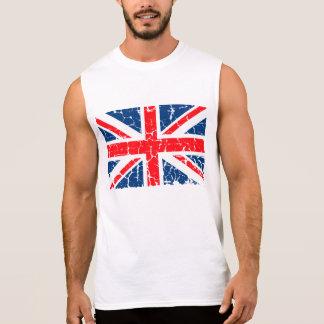 Bedrövad brittisk flagga sleeveless tee