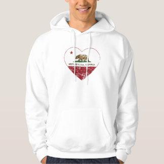 bedrövad hjärta för by för Kalifornien Sweatshirt Med Luva