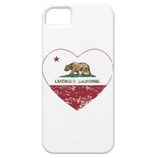 bedrövad hjärta för Kalifornien flaggalakewood iPhone 5 Skydd