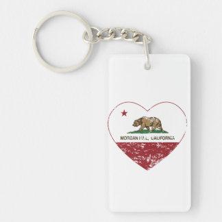 bedrövad hjärta för Kalifornien flaggamorgan backe