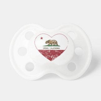 bedrövad hjärta för Kalifornien flaggaukiah Napp
