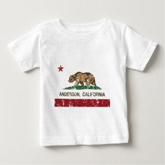 bedrövad Kalifornien flaggaandersson T-shirt