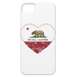 bedrövad Kalifornien flaggaSan Jose hjärta iPhone 5 Cases