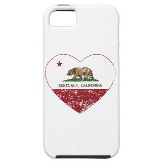 bedrövad Kalifornien flaggaSanta Ana hjärta iPhone 5 Case-Mate Skydd