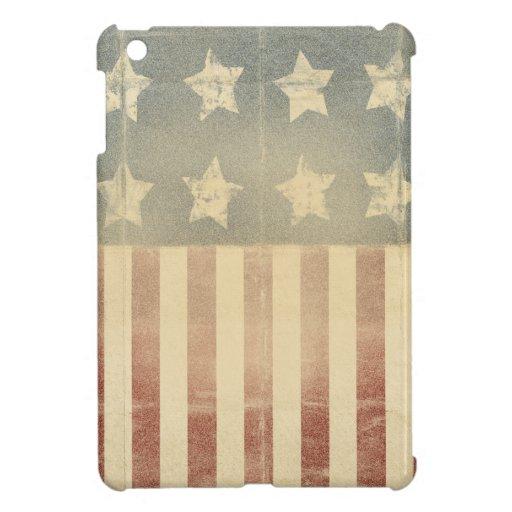 Bedrövad kolonial flagga för patriotisk amerikan iPad mini cases