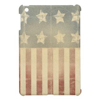 Bedrövad kolonial flagga för patriotisk amerikan iPad mini fodral
